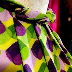 Grace fun  blouse pleats fan out from the neckline
